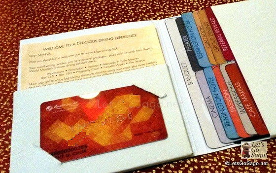 Indulge Card set with Coupons and Gift Certificates