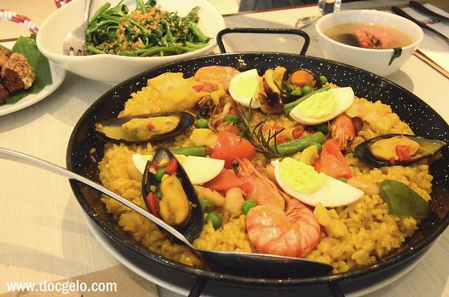 paella, corazon restaurant, east wing, shangri la plaza