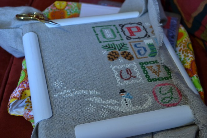 Christmas Alphabet cross stitch