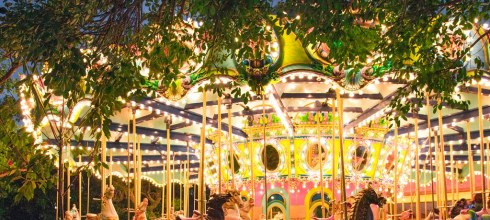 【台中】。夜晚親子也能同樂的開心樂園~美麗旋轉木馬【麗寶樂園】