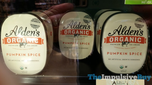Alden's Organic Pumpkin Spice Premium Ice Cream