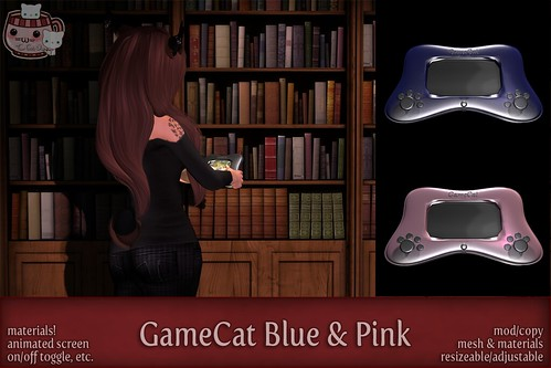 c( TC ) GameCat - poster - pinkblue by Sei / {Lemon Tea} / c( Two Cats )