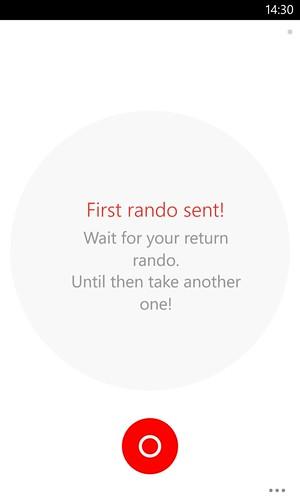 Sending your first Rando