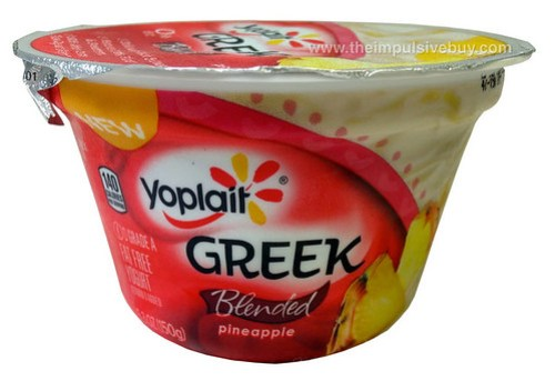 Yoplait Greek Blended Pineapple Yogurt