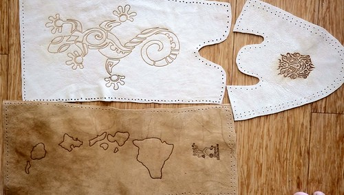 Leather Etched