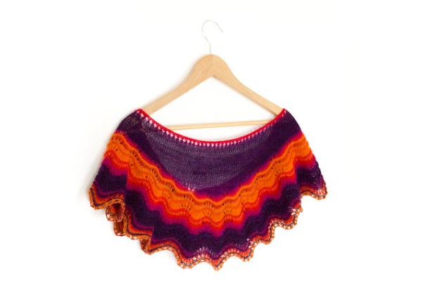 Knitting pattern now available for the Andalusia Shawl
