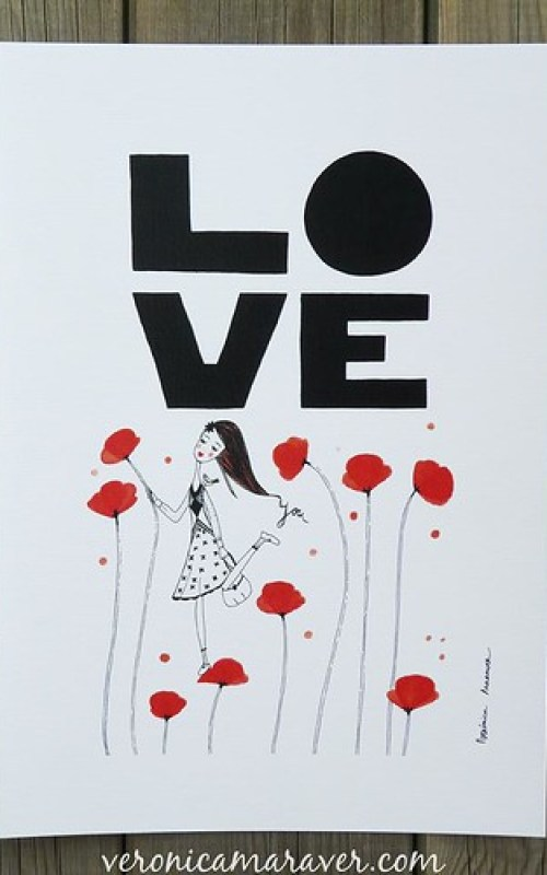 LOVE YOU Print by VMaraver