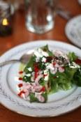 Salad of litle gems, bay shrimp, lemon creme, chile at Ned Ludd | Portland