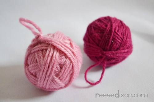 Yarn Ball Ornament Tutorial