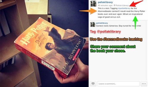 Banned Books Contest: Instagram Example