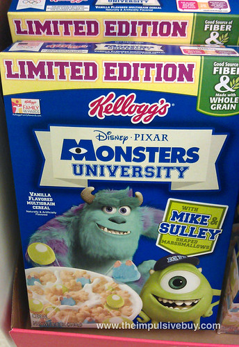Kellogg's Limited Edition Monsters University Cereal