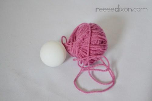 Yarn Ball Ornament Tutorial Step 1