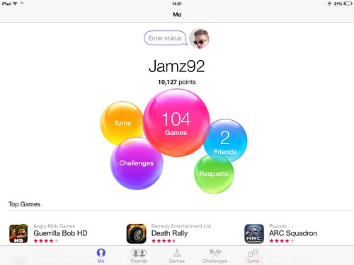 Game Center in iOS 7