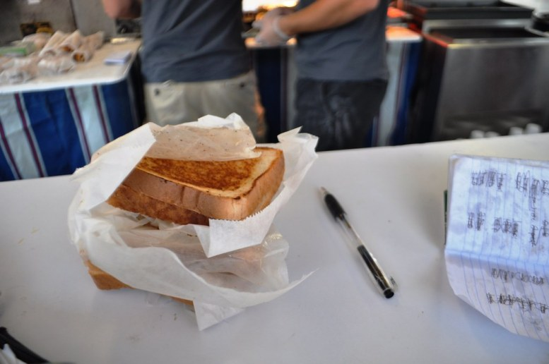 One Grilled Cheese Sandwich is $1 at Little Buck-a-Roos at the Erie County Fair.