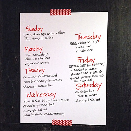 Last week was the first in YEARS we ate everything according to meal plan. (I think we can do it again.)