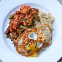 Gai Pad Prik Gaeng [Chicken and Green Beans Stir Fried in Curry Paste]