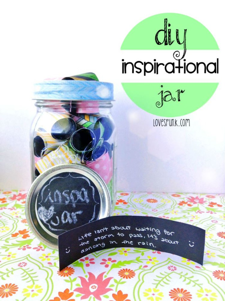 Need yourself a pick-me up? Make one to use in the future!  DIY Inspirational Jar | lovespunk.com  XX, @angela_lan ♡
