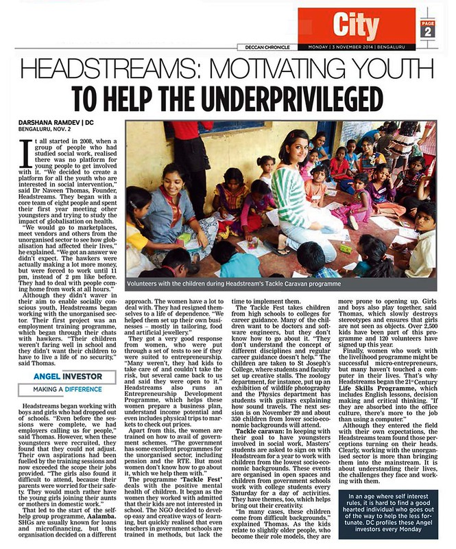 Youth Changemakers at headstreams