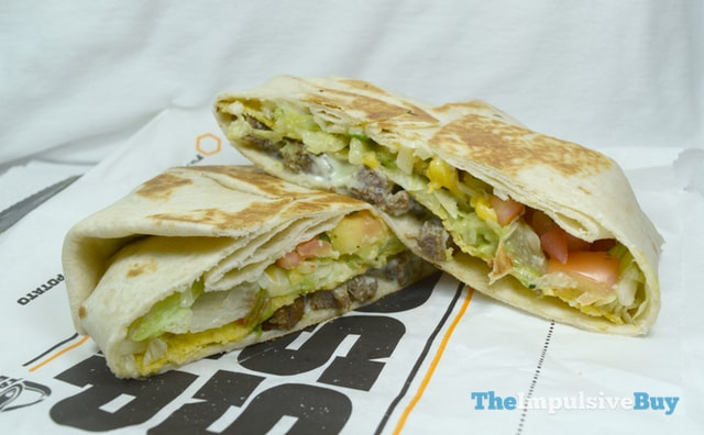 Taco Bell Fully Loaded Steak Boss Wrap