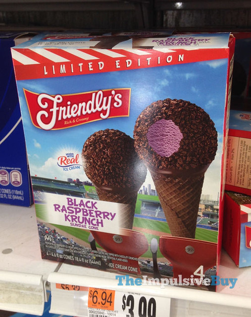 Friendly's Black Raspberry Krunch Sundae Cones