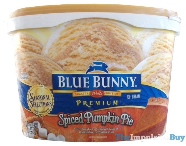 Blue Bunny Seasonal Selections Spiced Pumpkin Pie Ice Cream