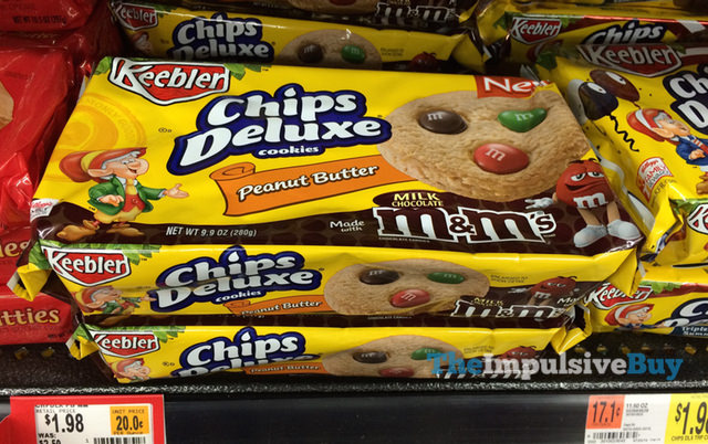 Keebler Peanut Butter Chips Deluxe Cookies Made with Milk Chocolate M&M's