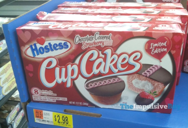 Hostess Limited Edition Chocolate Covered Strawberry Cup Cakes