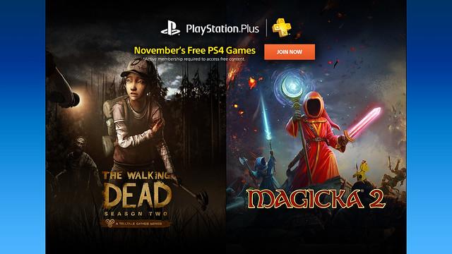 PlayStation Plus November 2015 Lineup