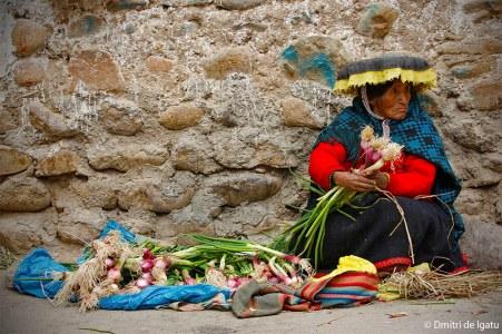Chola em Ocangate, Peru