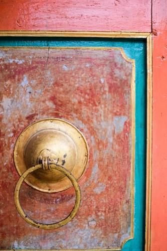 Gompa door
