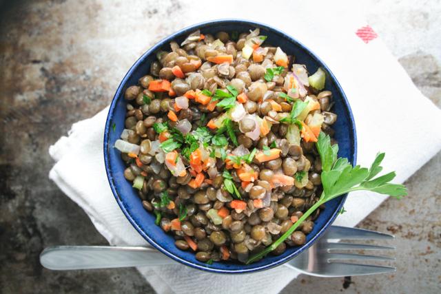 french warm lentil salad [ inthiskitchen.com ]