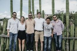 A very spirited team post the Mezcal sampling.