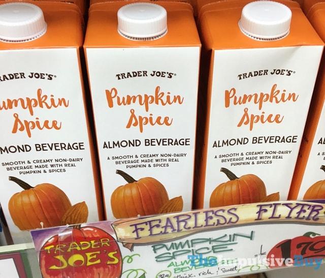 Trader Joe's Pumpkin Spice Almond Beverage