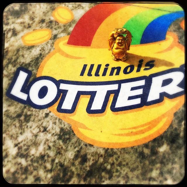 Buddha Checks Out Illinois Lottery
