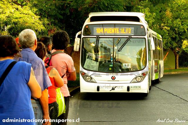 Transantiago - Inversiones Alsacia - Marcopolo Gran Viale / Volvo (BJFD16)