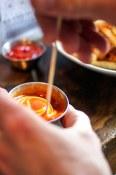 Mixing the sauce