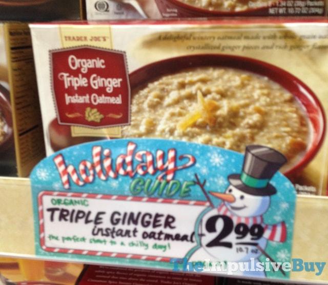 Trader Joe's Organic Triple Ginger Instant Oatmeal