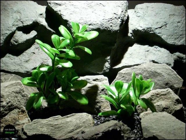plastic aquarium plants: jade plants bush's by ron beck designs