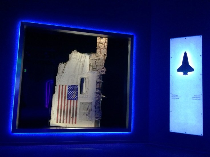 Challenger Body Panel in Forever Remembered Exhibit - Kennedy Space Center Visitor Complex, Oct. 10, 2015