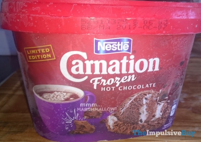 Limited Edition Nestle Carnation Frozen Hot Chocolate Ice Cream