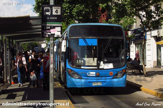 Transantiago - Inversiones Alsacia - Marcopolo Gran Viale / Volvo (ZN6230)