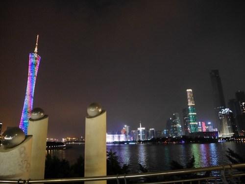 Guangzhou Bridge skyline