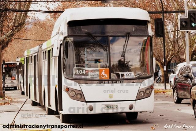 Transantiago - Inversiones Alsacia - Busscar Urbanuss / Volvo (ZN6210)
