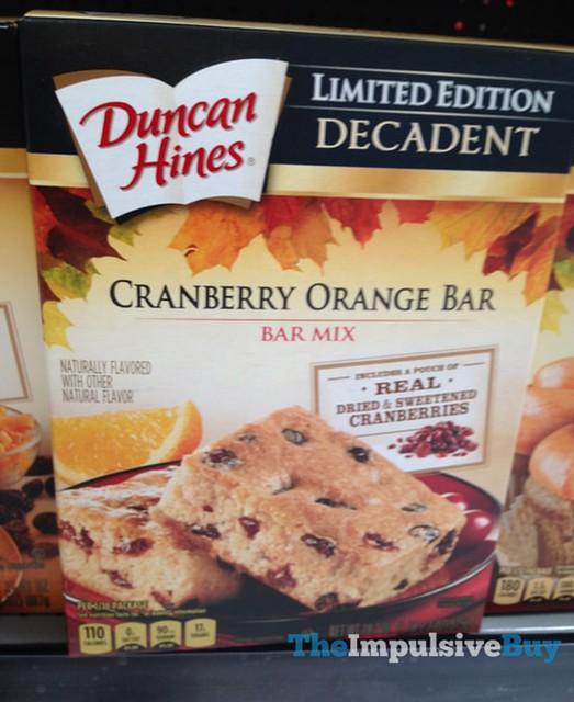 Duncan HInes Limited Edition Decadent Cranberry Orange Bar Mix