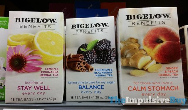 Bigelow Benefits Herbal Teas (Lemon & Echinacea, Cinnamon & Blackberry, and Ginger & Peach)