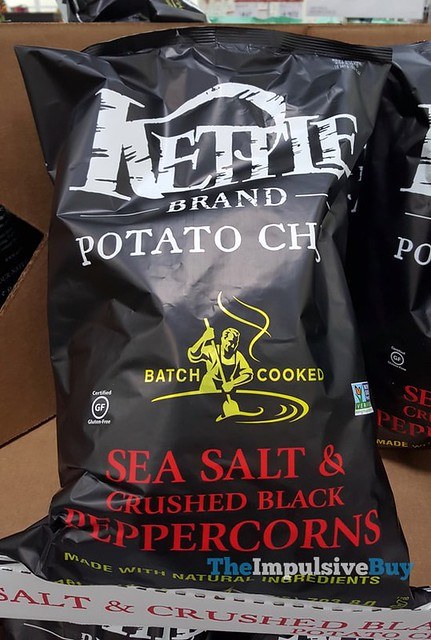 Kettle Brand Sea Salt & Crushed Black Peppercorns Batch Cooked Potato Chips