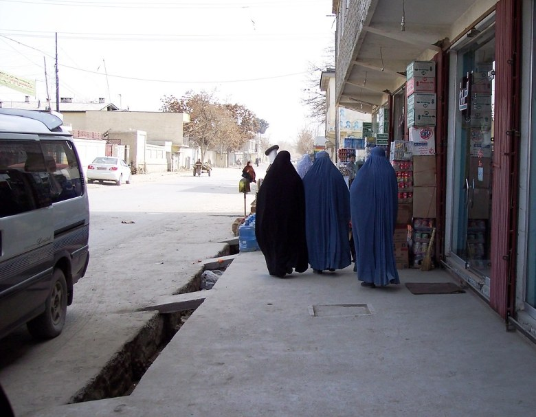 Burqas in Kabul - Trip to Afghanistan with a Global Exchange Reality Tour, March 2006