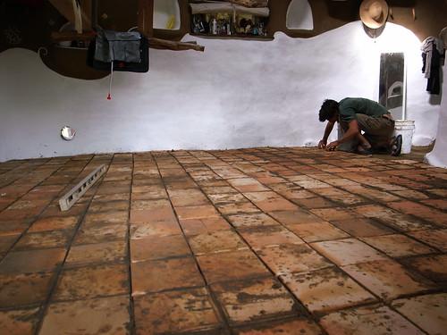 tile-laying