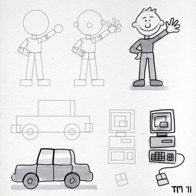 KISS 3: Stay In Shape (Easy Sketches By Using Simple Shapes)