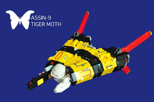 LEGO ASSIN-9 Tiger Moth spaceship by vinn